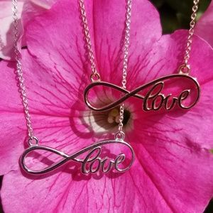 Jewelry - Sterling Silver Love Infinity Necklace